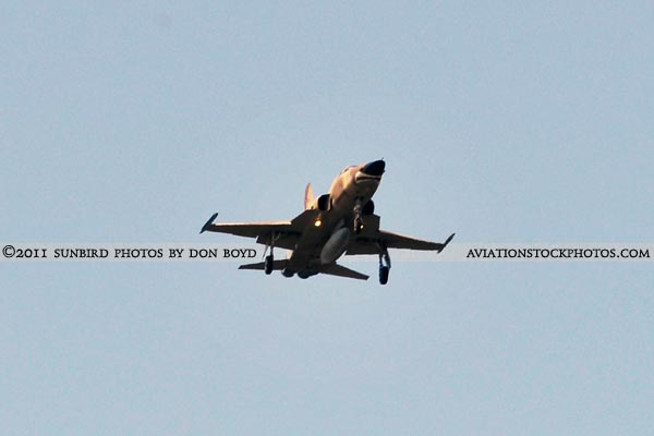 2011 - USN Northrop F-5N/F on approach military aviation stock photo #7831