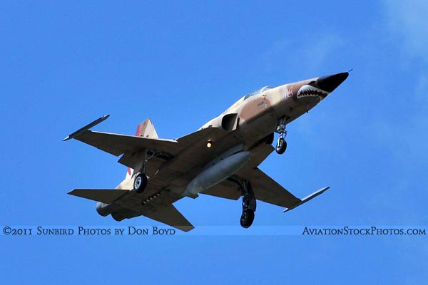 2011 - USN Northrop F-5N/F on approach military aviation stock photo #7832