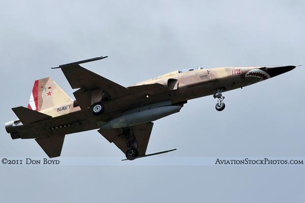 2011 - USN Northrop F-5N/F on approach military aviation stock photo #7835
