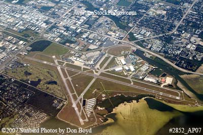 2007 - St. Petersburg Clearwater International Airport (PIE) aerial stock photo #2852