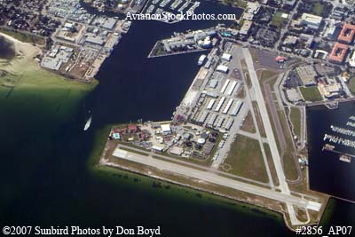 2007 - Albert Whitted Airport (SPG), St. Petersburg, Florida aerial stock photo #2856