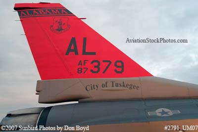 2007 - Alabama Air National Guard F-16D Block30H #AF87-0379 City of Tuskegee military aviation stock photo #2791