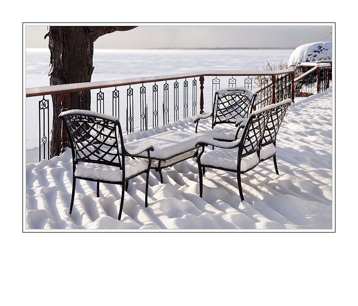 Deck Covered in Snow