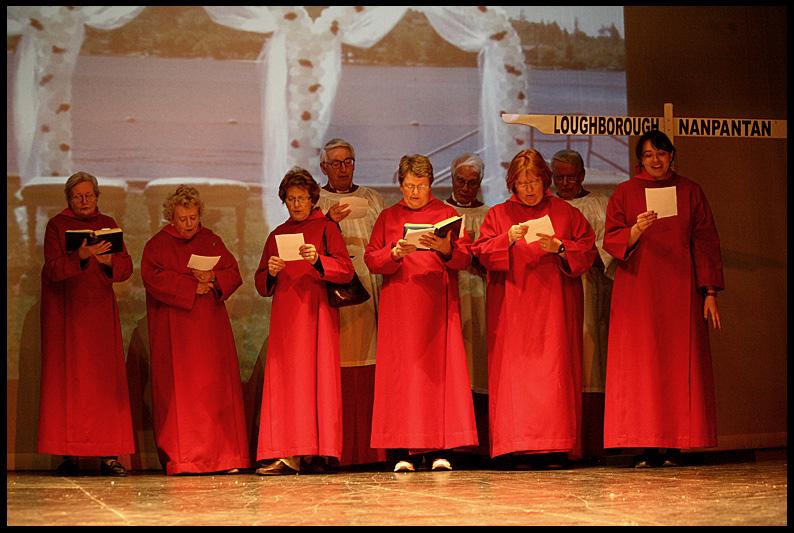 A Choir In Red