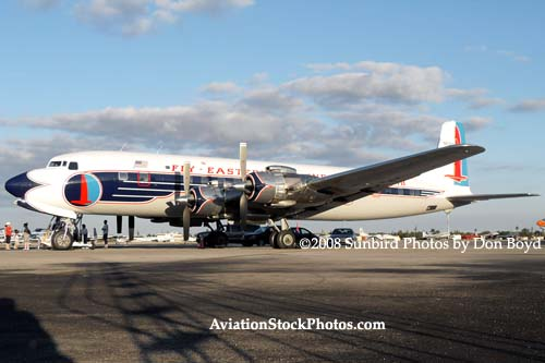 2008 - the Historical Flight Foundations restored Eastern Air Lines DC-7B N836D Open House stock photo #10053