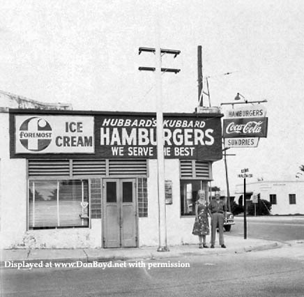 1940s - Harold and Dorothy Hubbard in front of Hubbards Kubbard on Hialeah Drive