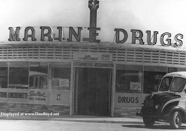 1950s - Marine Drugs in downtown Opa-locka