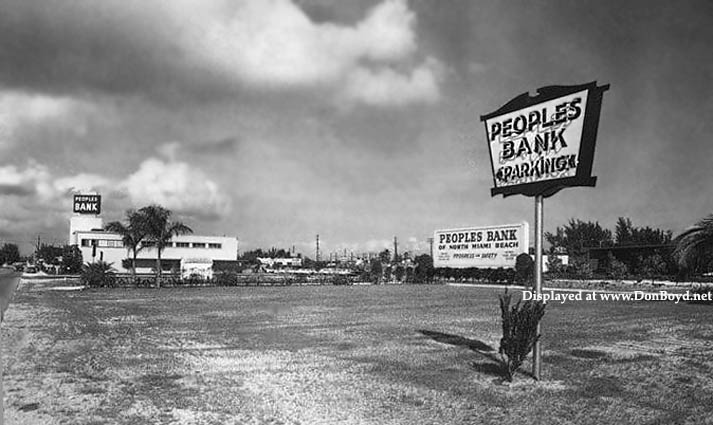 1950s - Peoples Bank of North Miami Beach on NE 125th Street and 12th Avenue, North Miami