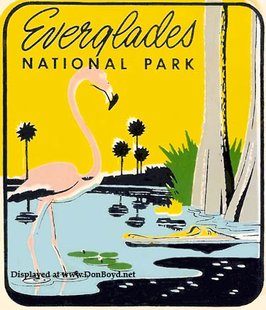 1950s - Everglades National Park travel decal
