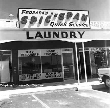 1957 - Ferraras Spic n Span Quick Service Laundry at 8512 NW 7th Avenue, Miami