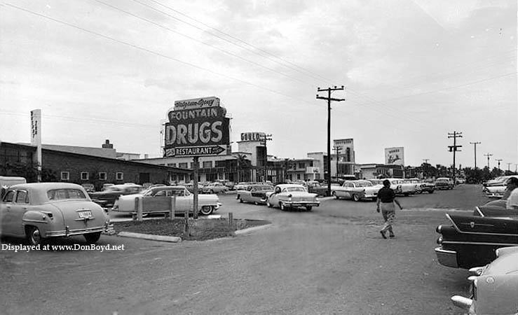 1957 - Walgreens on A1A in Sunny Isles with the Gould Motel in the background