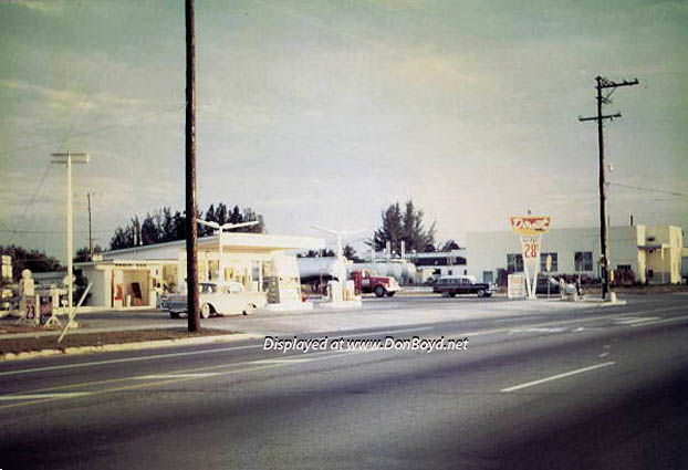 Mid 1960s - the Direct Oil gas station at 2915 W. 4th Avenue, Hialeah