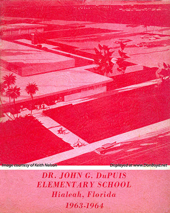 1964 - cover of the Dr. John G. DuPuis Elementary School yearbook