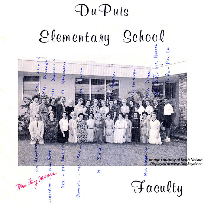 1964 - the faculty at Dr. John G. DuPuis Elementary School