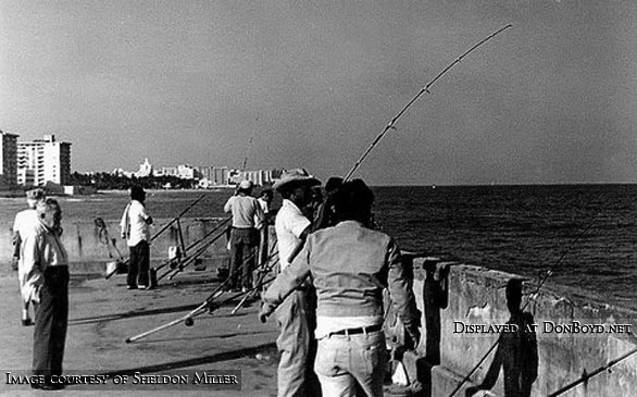 Early 1970s - the end of the fishing pier at Pier Park on South Beach