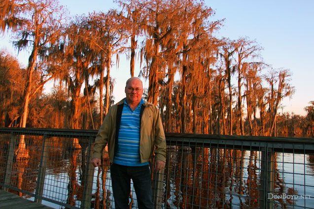 February 2011 - Don Boyd at Banks Lake National Wildlife Preserve in Georgia at sunset