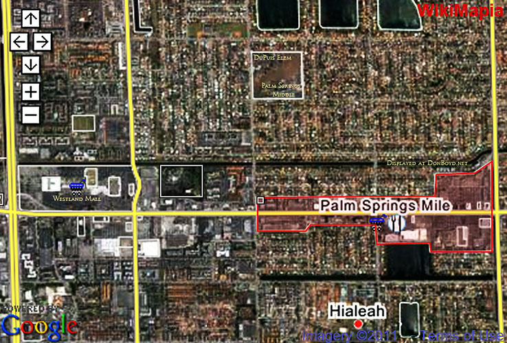 2011 - aerial view of Palm Springs Mile - where it is and where it isnt