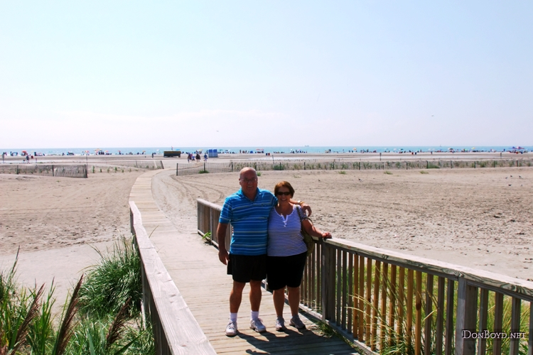 August 2011 - Don and Karen after spending a night at Wildwood Crest, New Jersey