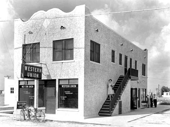 1940 - the Western Union building in Hialeah