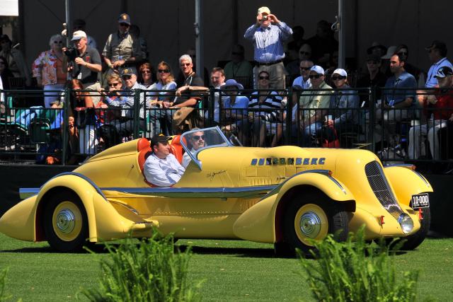Concours de Sport winner: 1935 Duesenberg SJ Speedster, owned by Harry Yeaggy, Cincinnati, OH (ST, CR)