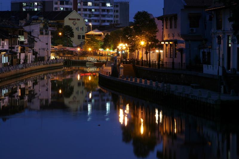 Malacca river at dawn