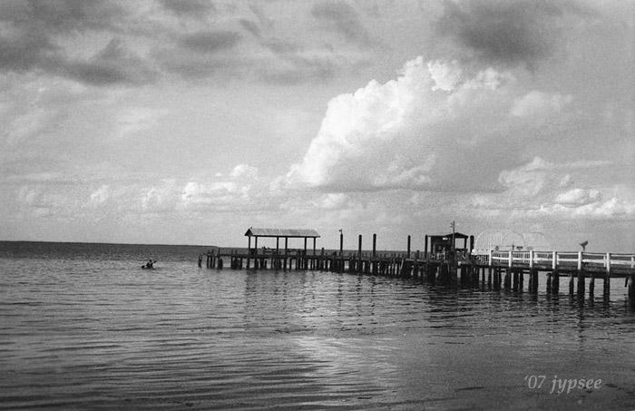 pier and kayak