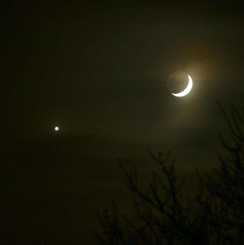 new year Moon and Venus