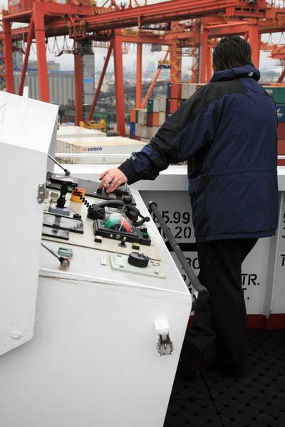 Captain at Remote Control Console