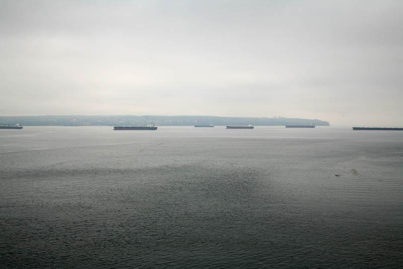 Bulk Carrier Ships in English Bay