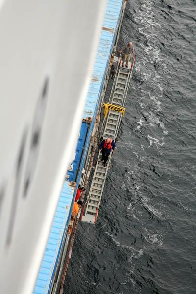 Pilot Disembarking