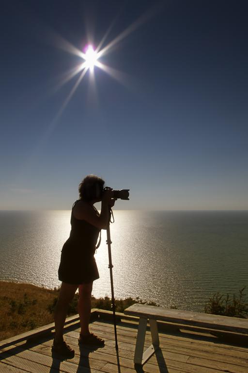 La photographe...photographiée!