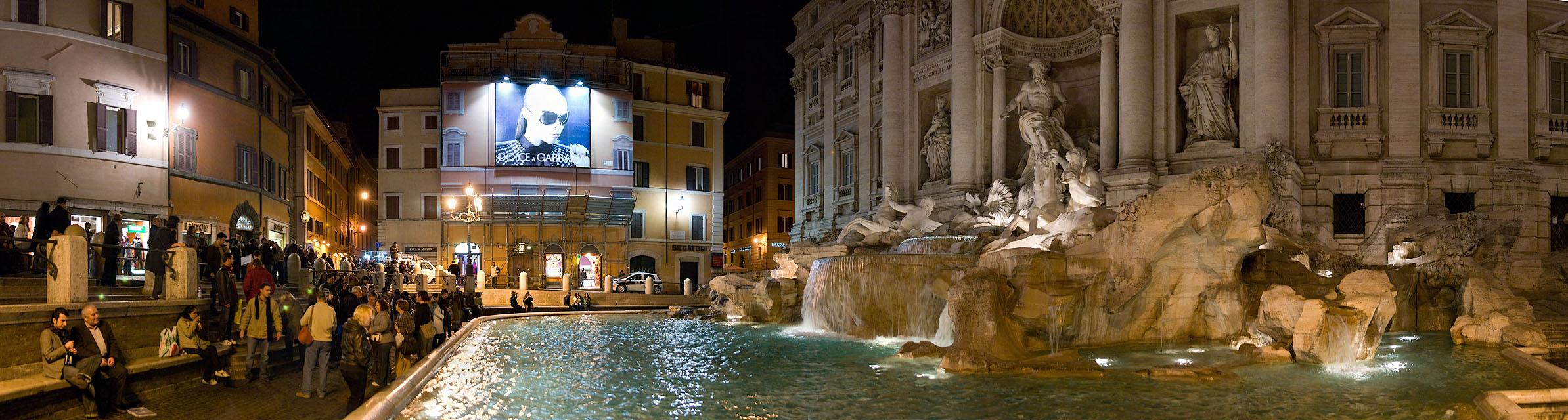Trevi Fountain meets Dolce & Gabbana