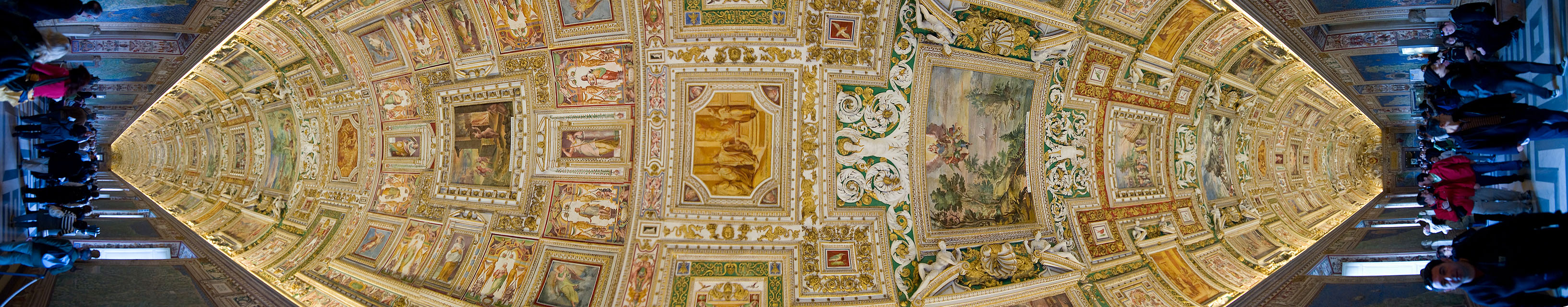 Ceiling of the Galleria delle Carte Geografiche at the Vaticans museums