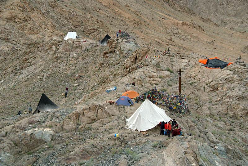 Refugees by Shanti Stupa