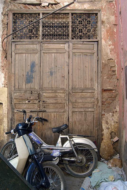Bikes by a Door