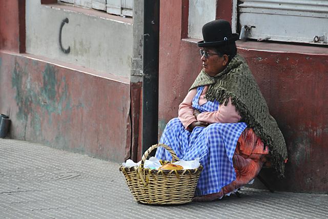 Street vendor in Oruro
