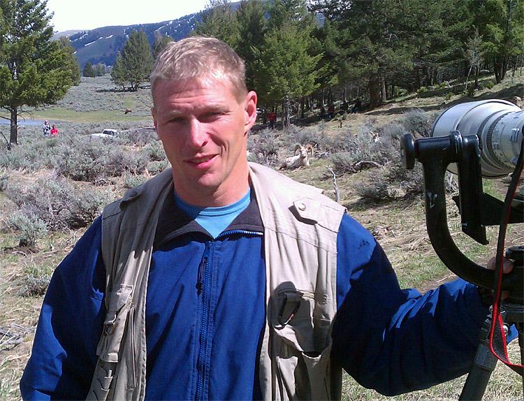 Rick at Yellowstone Picnic Area with Bighorns.jpg