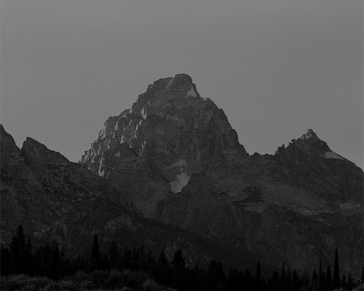 Sunset on the Mountain Black and White.jpg