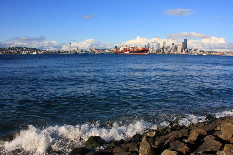 Elliott Bay and across it - Seattle