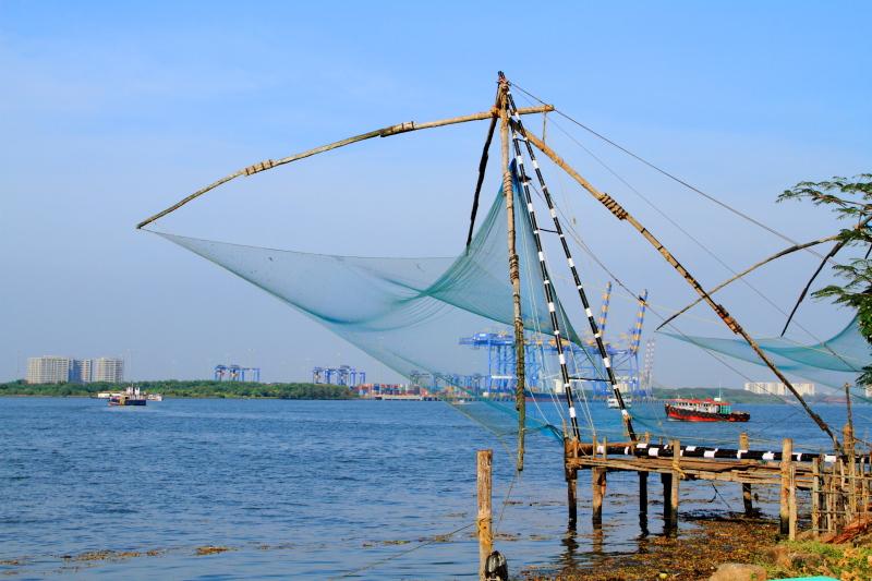 Chinese Fishing Nets, Cheena vala, Fort Kochi, Kerala