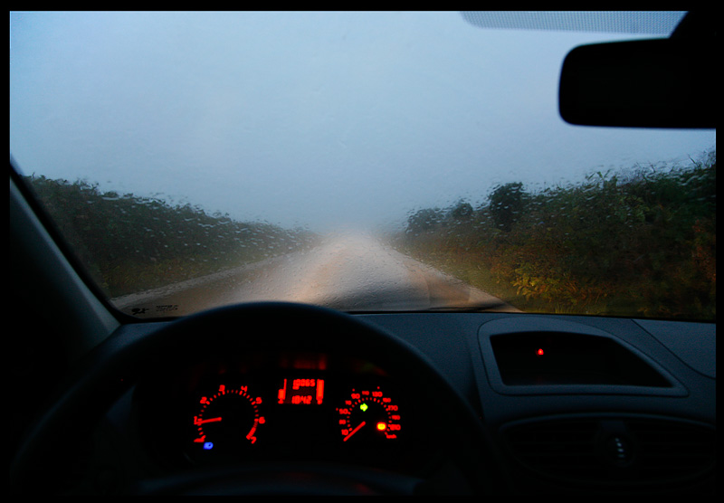 Wet driving on Flores