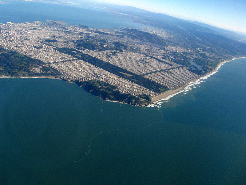 Over SF bay; Looking south towards SF and the coast .. 2934