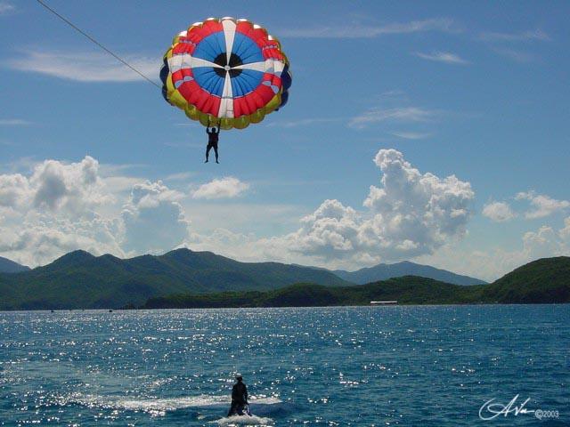 Parachuting by Antoine