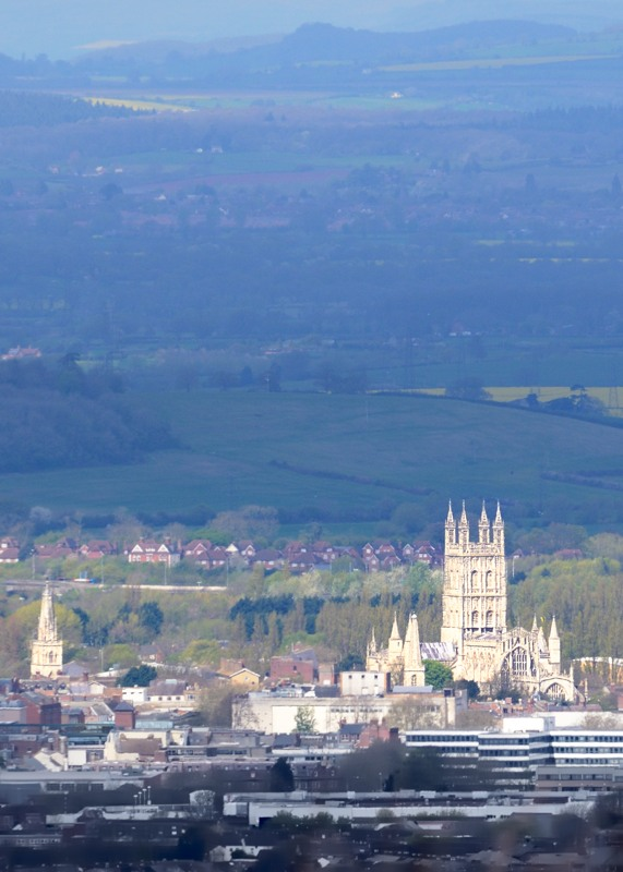Gloucester cathedral from Coopers Hill