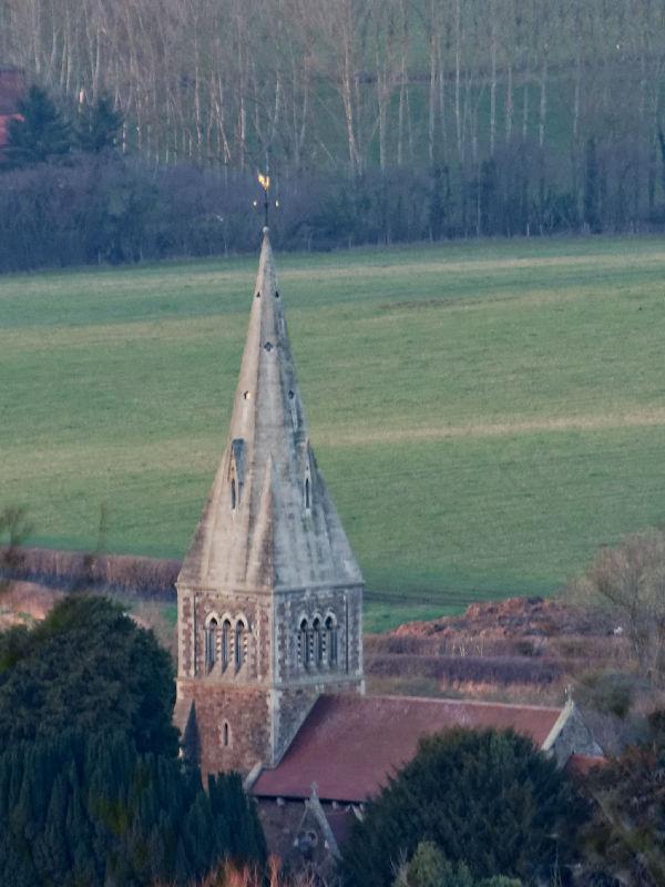 Coddington Church from Oyster Hill