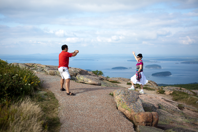 Tourists on Cadillac Mountain Path