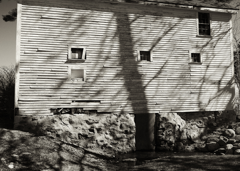 The Black House Barn with Shadow