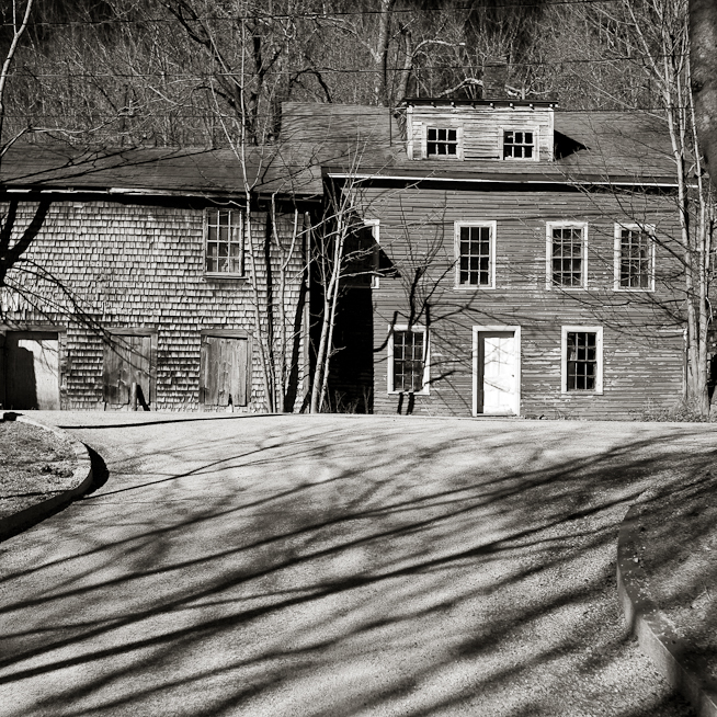 House, Barn and Shadows