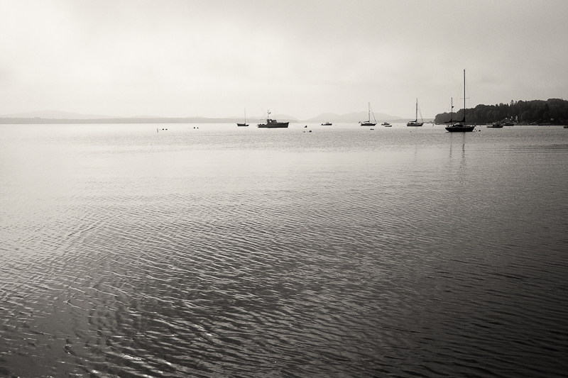 Fog and Boats, Union River Bay #1