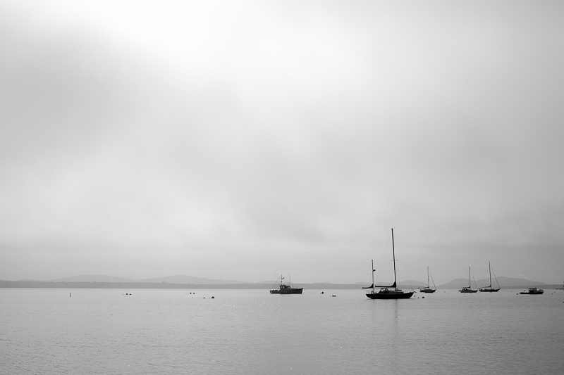 Fog and Boats, Union River Bay #2